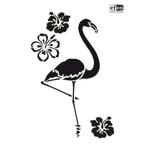 Στένσιλ Efco Α4 flamingo and flowers