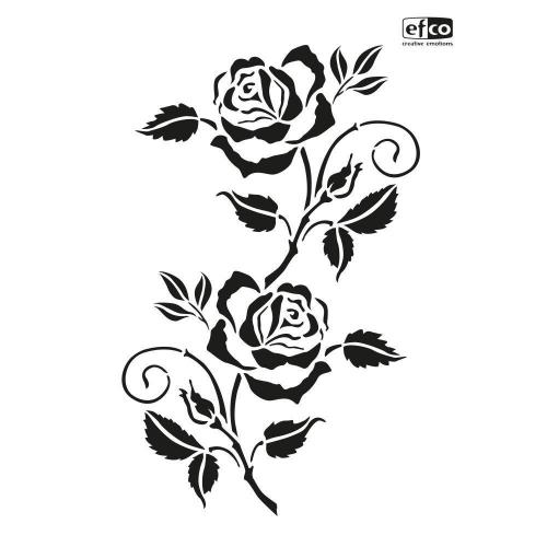 Στένσιλ Efco Α4 rose tendril