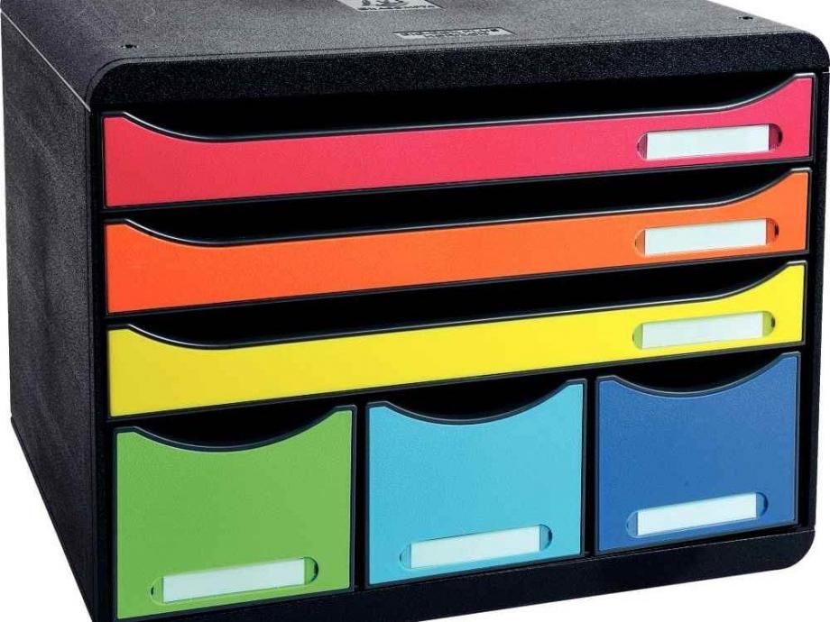 Συρταριέρα πλαστική 6 θέσεων Exacompta 306798D