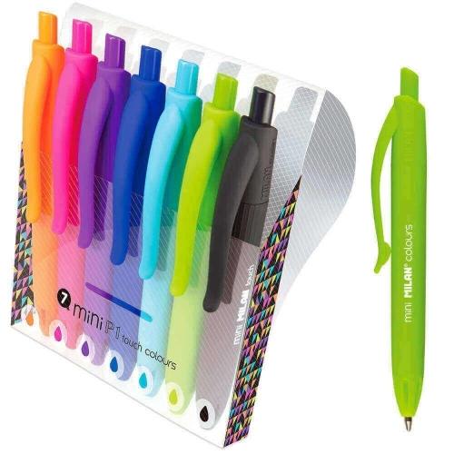 Στυλό Milan mini χρωματιστά σετ 7 τεμ.