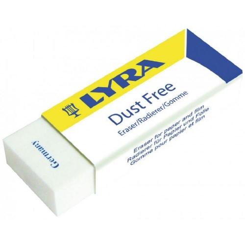 Γόμα Lyra λευκή μεγάλη 59x21x11mm