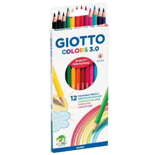 Ξυλομπογιές ακουαρέλας Giotto Colors 12 τεμ.