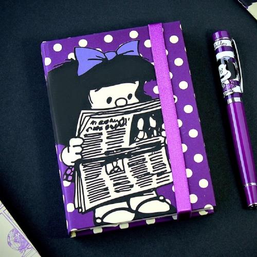 Σημειωματάριο Mafalda 10x15 μωβ