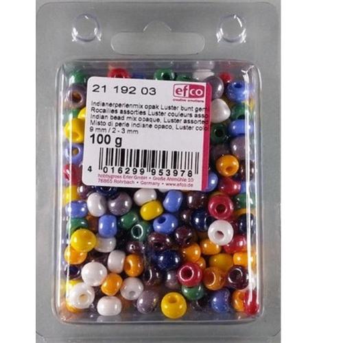 Χάντρες Efco 8 mm 100gr χρωματιστές