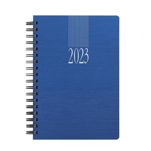 Ημερολόγιο 2021 σπιράλ 11x16 ημερήσιο Indiana Wire-O μπλε