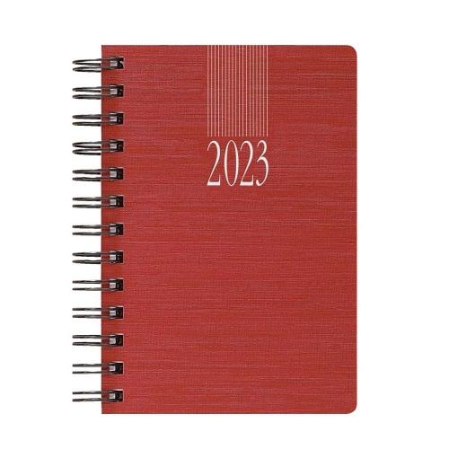 Ημερολόγιο 2021 σπιράλ 14x21 ημερήσιο Indiana Wire-O κόκκινο