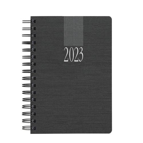Ημερολόγιο 2021 σπιράλ 14x21 ημερήσιο Indiana Wire-O ανθρακί
