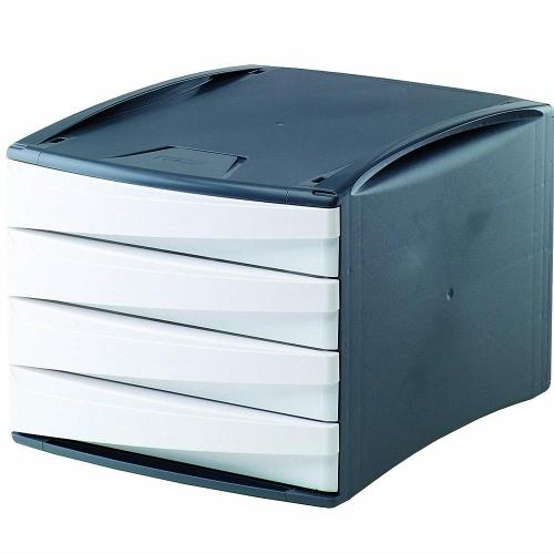 Συρταριέρα πλαστική 4 θέσεων Fellowes λευκή