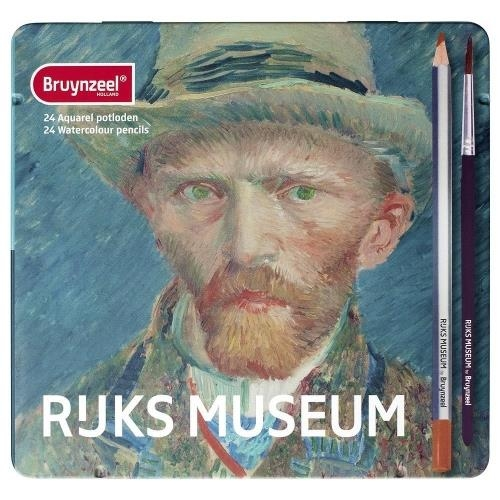 Ξυλομπογιές ακουαρέλας Bruynzeel Van Gogh 24 τεμ. μεταλλική κασετίνα