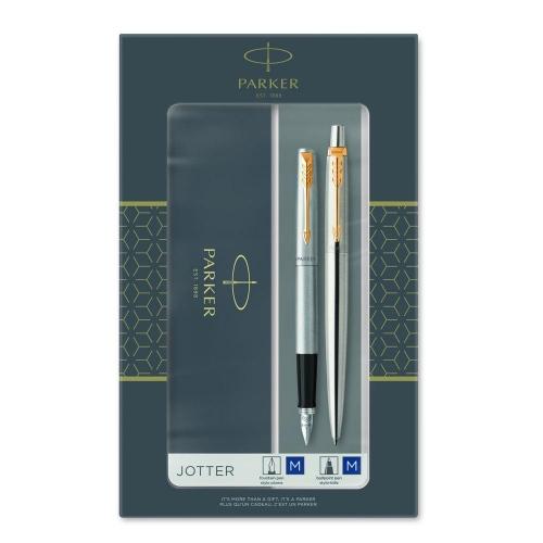 Σετ Parker Jotter Steel GT στυλό & πένα