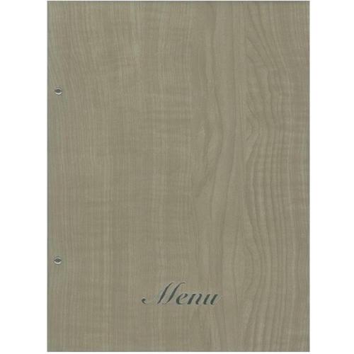 Κατάλογος εστιατορίου Α4 με βίδες μπεζ ξύλου μενού