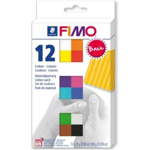 Σετ Fimo πηλού 8023 C12-1 σετ 12 basic