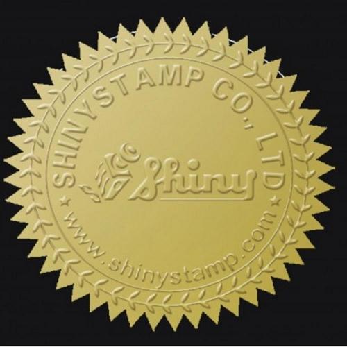 Αυτοκόλητα Shiny CS-1 40mm χρυσά
