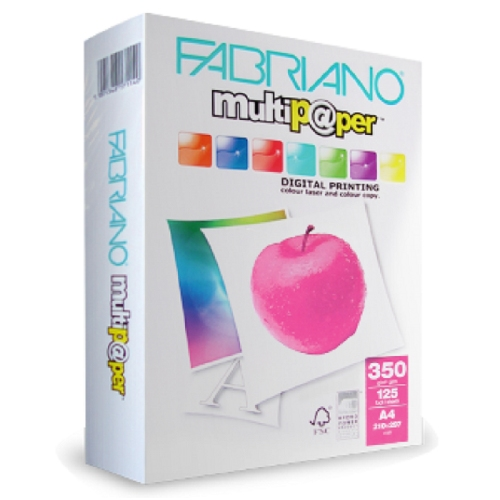 Χαρτονάκι Α4 Fabriano 350gr 125φ λευκό