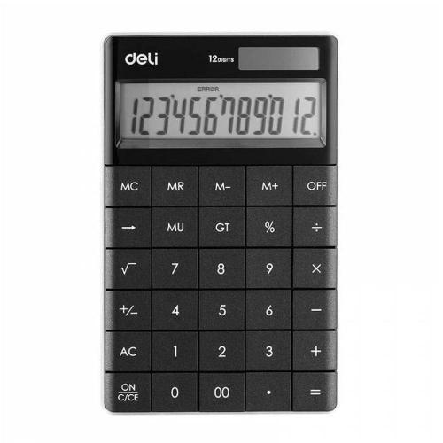 Αριθμομηχανή Deli 1589 12 ψηφίων μαύρη