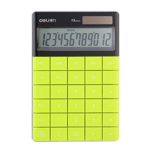 Αριθμομηχανή Deli 1589 12 ψηφίων πράσινη