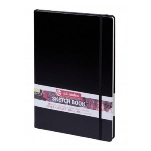Σημειωματάριο 21x30cm Talens black 80φ sketchbook