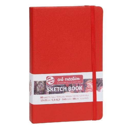 Σημειωματάριο 13x21cm Talens red 80φ sketchbook