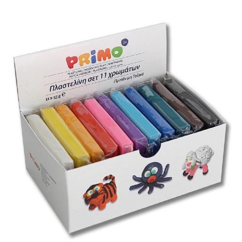Πλαστελίνη Primo CMP κουτί 11 τεμάχια
