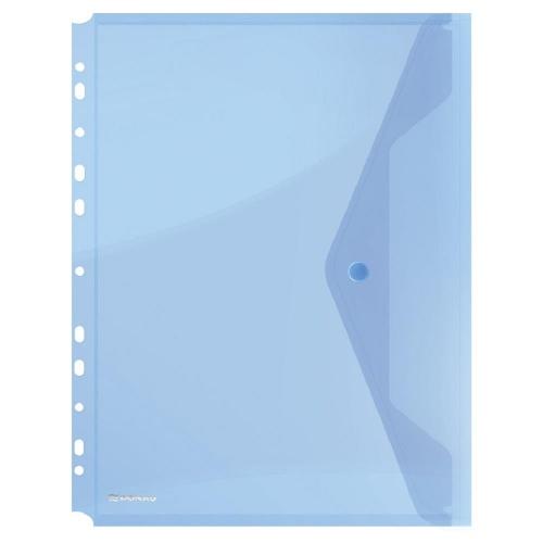 Ντοσιέ κουμπί Α4 περφορέ Donau μπλε με τρύπες