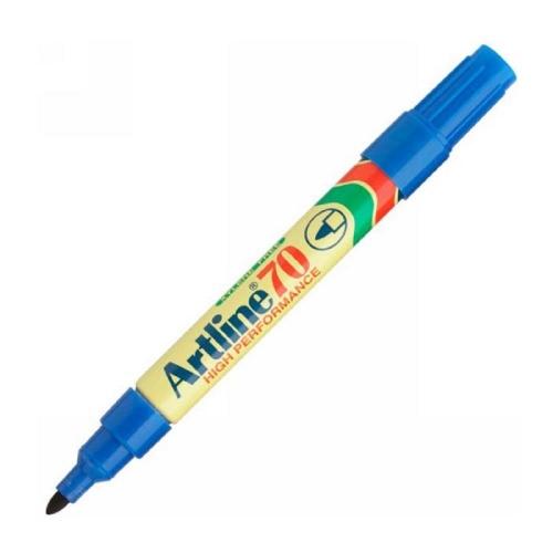 Μαρκαδόρος ανεξίτηλος Artline 70 μπλε στρογγυλή μύτη