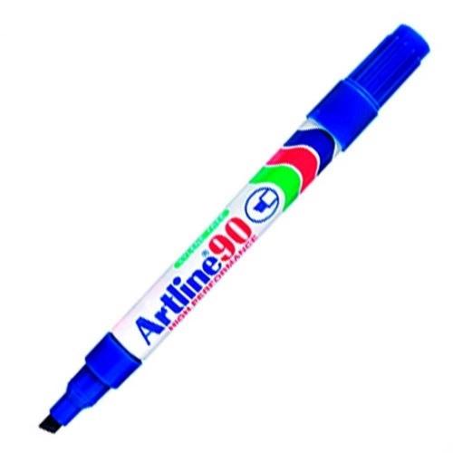 Μαρκαδόρος ανεξίτηλος Artline 90 μπλε πλακέ μύτη