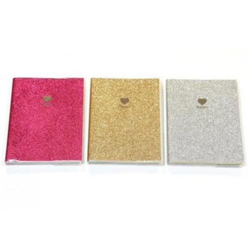 Σημειωματάριο Crystal 11x14 χρυσόσκονη