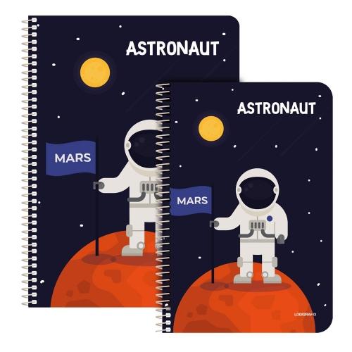 Τετράδιο σπιράλ Α4 Astronaut 1 θέμα