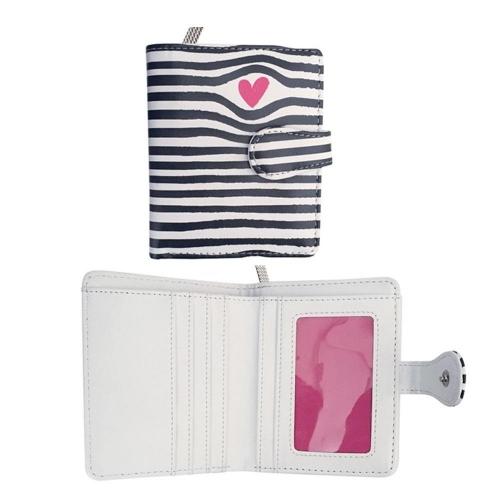 Πορτοφόλι με θήκες stripes 9x11,5x2,8 cm Ediglam
