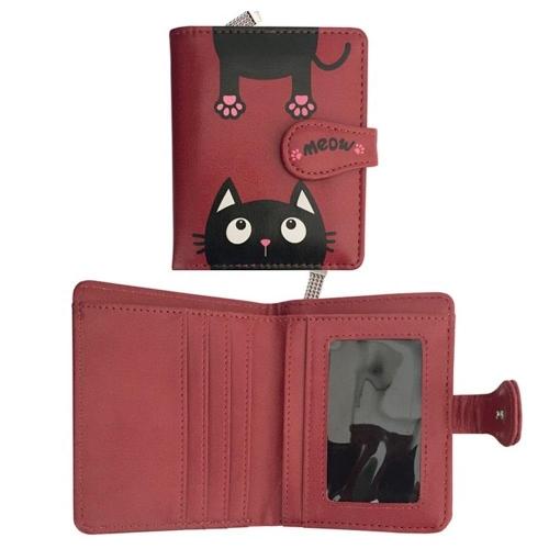 Πορτοφόλι με θήκες cat 9x11,5x2,8 cm Ediglam