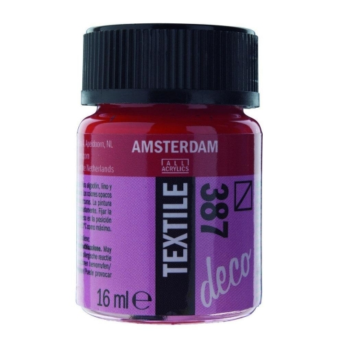 Amsterdam textile 16 ml 387 bright red