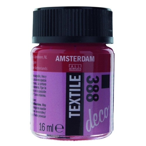 Amsterdam textile 16 ml 388 bright red opaque