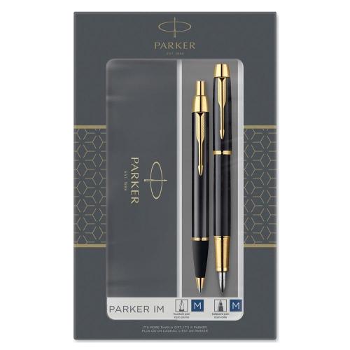 Σετ Parker IM στυλό & πένα black gold GT