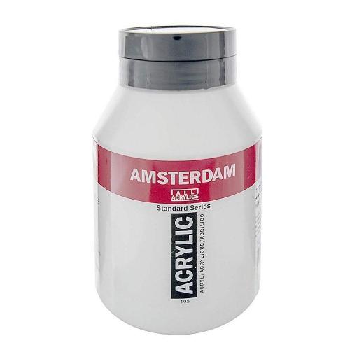 Ακρυλικό Amsterdam 1000 ml λευκό 105 titanium white
