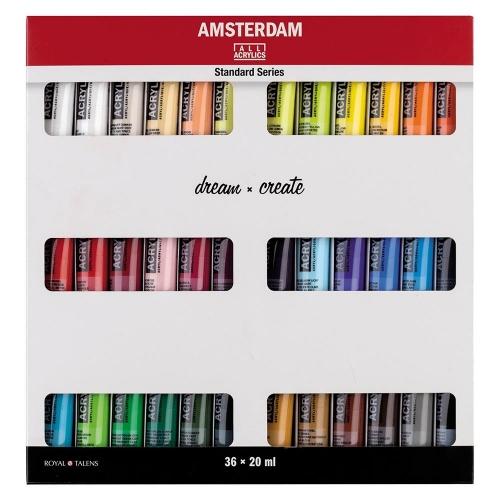 Σετ ακρυλικών Talens Amsterdam 36x20 ml