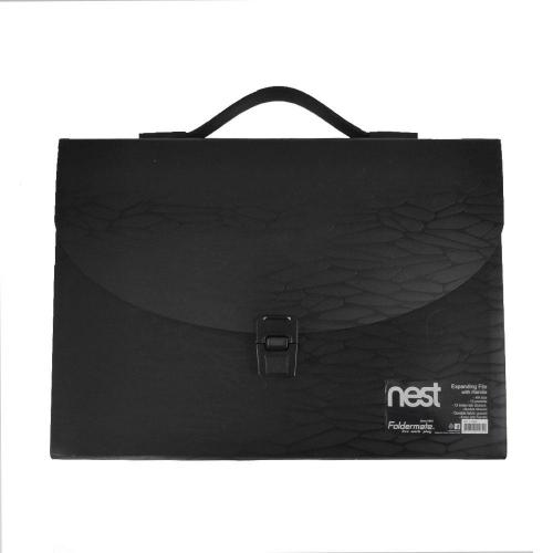 Γραμματιοθήκη Α4 τσάντα Nest Foldermate 13θ μαύρη