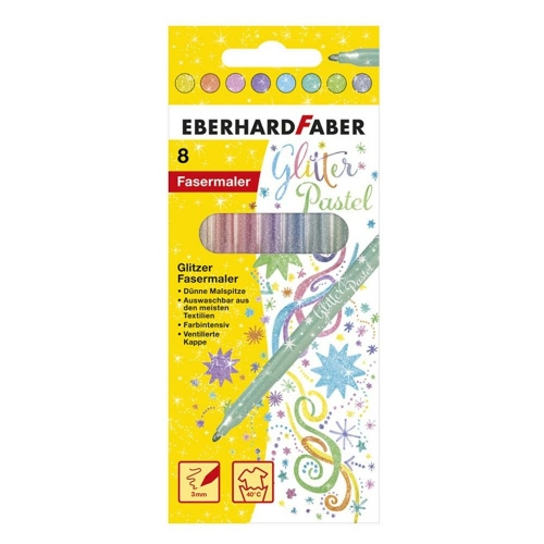 Μαρκαδόροι Eberhard Faber glitter 8 τεμ. παλ