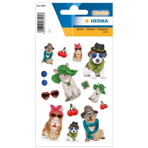 Αυτοκόλλητα Herma Magic 3095 hat animals