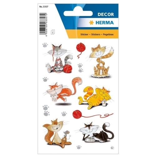 Αυτοκόλλητα Herma Decor 3357 funny cats