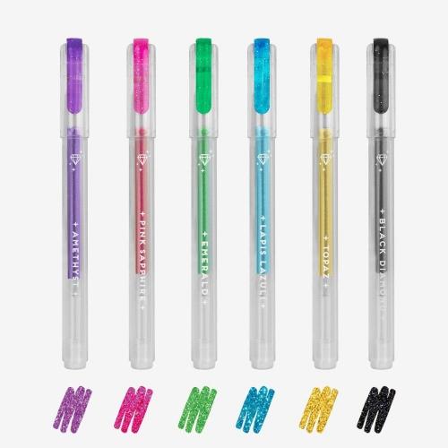 Στυλό με glitter Legami σετ 6 τεμ gel pen GGP0001