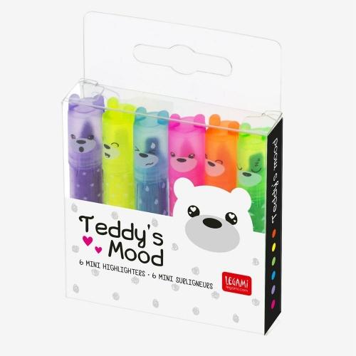 Υπογραμμιστές Legami σετ 6 Teddys mood MH0003 5mm