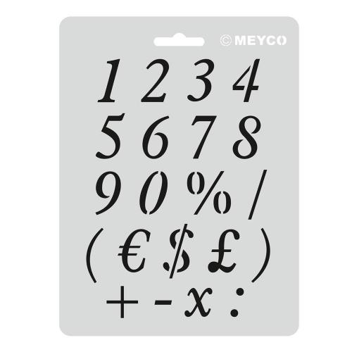Στένσιλ Meyco Α5 numbers 66006