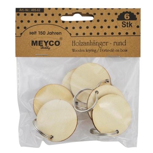 Μπρελόκ ξύλινα Meyco 3,5 cm 6 τεμ 405-62