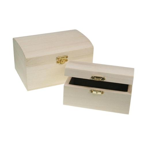 Κουτιά ξύλινα Meyco μπαουλάκια σετ 2 τεμ 34600