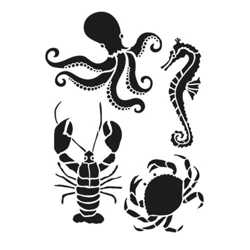 Στένσιλ Efco Α4 sea creatures