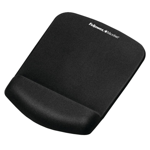 Mousepad Fellowes wrist support microban black 9252003