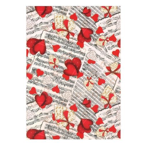 Χαρτί δώρου bolis 70 x100 cm Supermix hearts