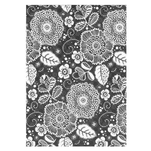 Χαρτί δώρου bolis 70 x100 cm Flowers black
