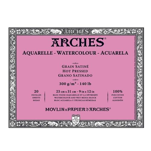 Μπλοκ Arches hot pressed 18x26 cm 300 gr 20 φύλλα