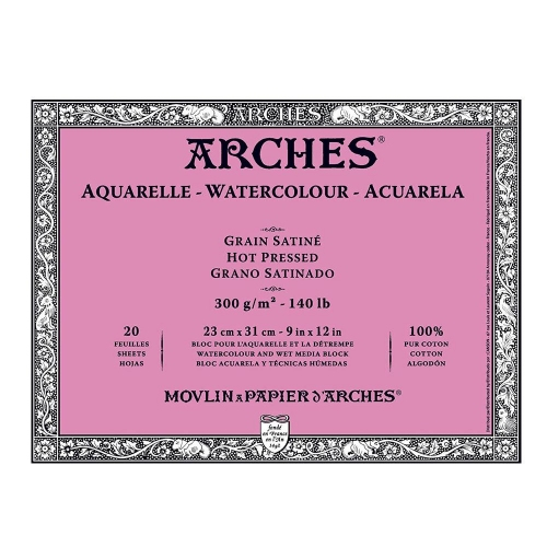 Μπλοκ Arches hot pressed 18x26 cm 300 gr 20 φύλλα